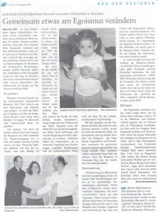 Artikel über Aktion für Benposta im Heinrichsblatt