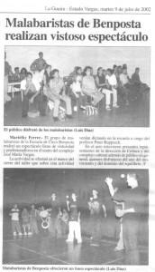 malabaristas de Benposta en la prensa | Jongleure von Benposta in der Presse